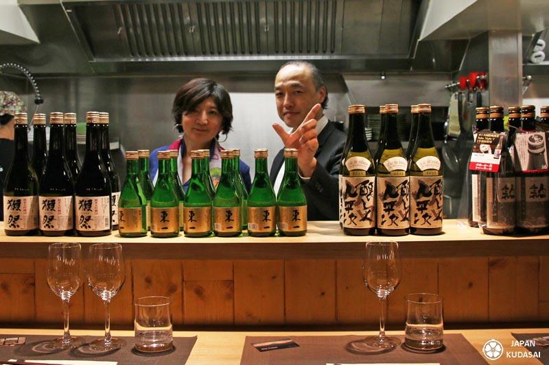 Japan kudasai organise avec le blog sur le Japon la première dégustation de saké japonais, nihonshu, au restaurant Akatsuki à Dijon. Présence exceptionnel de Keiichiro Miyagawa, sommelier en saké et président du concours Kura Master.